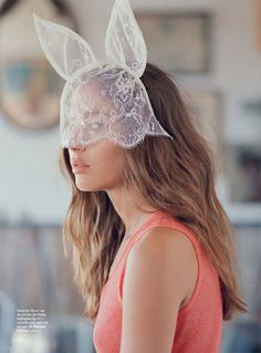lace bunny mask for Halloween
