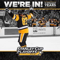 Pittsburgh Penguins in again Stanley Cup Playoffs 10 straight years