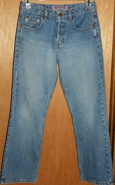 9f380dce62a Silver Medium Wash Boot Cut Button Fly Blue Denim Jeans Women s Size 30 X 30