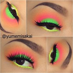 Omg this is perfect! I love this gals looks. #neon #eyeshadow