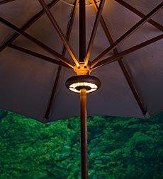 Umbrella pole light by quantum 1098 this 24 led umbrella light cordless waterproof led adjustable market umbrella light by plow hearth workwithnaturefo