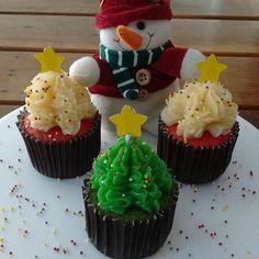 Cupcakes Natalinos por @bolode_colher
