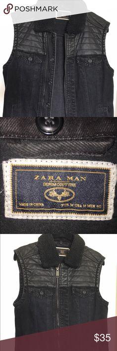 ⚡️😎 Chic Zara Denim Couture Collection Biker Vest ZARA MAN COLLECTION DENIM BIKER VEST Zara Jackets & Coats Vests