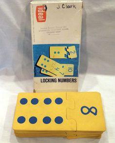 Vintage IDEAL SCHOOL SUPPLY LOCKING NUMBERS Educational Game #6067 Tactilmat