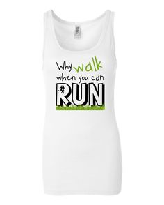 Why walk when you can run tank by namasteoften on Etsy