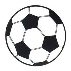 Decoratie Voetbal cutout -  Een grote decoratie van een voetbal. Afmeting: 33cm. Leuk voor een sport evenement, kinderfeest of gewoon als decoratie in een kinder of tiener slaapkamer.