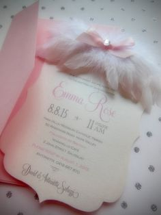 Angel Wing Lil piece of heaven Baptism Christening by soireecrush