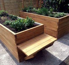 Vyvýšený záhon na bylinky s lavicou Outdoor Furniture, Outdoor Decor, Outdoor Storage, Pergola, Backyard, Garden, Home Decor, Patio, Garten