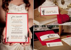 Beauty and the Beast Wedding Invitation Avantgarde design Fairy Tale - Belle Bride - Sassy Mouth Photography