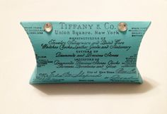 Tiffany Blue Pillow Favor Box, Wedding Favor Box, Party Favor Box, Candy Box, 12 Quantity. $16.44, via Etsy.