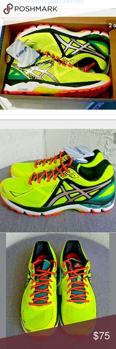 NEW Mens Asics Athletic Shoes Sneakers SIZE 8 Asics Athletic Shoes Mens Gel T500N Reflective Neon GT 2000 3 US 8 / EU 41.5 Gel insoles Flash Neon Yellow with Reflective Siver. BRAND NEW IN BOX with TAGS....Enjoy!  Type: Shoes Style: Athletic / Running Sneakers - Gel Insoles Lace Up Reflective Sides Neon Flash Yellow Brand: Asics Size: US 8 / EU 41.5 Color: Flash Yellow Material: Nylon Country of Manufacture: Vietnam Stock Number: 0011 Asics Shoes Sneakers