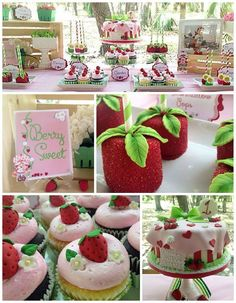 This darling STRAWBERRY SHORTCAKE BIRTHDAY PARTY was submitted by Ivette Pereira of Lexi Kay Paperie. Why isn't this party just adorable?! Every little pink and green detail is just charming! From the