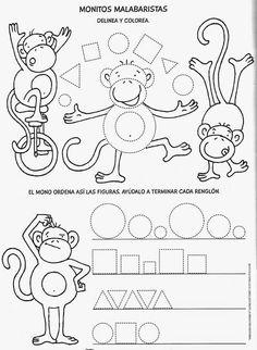 Preschool Worksheets, Kindergarten Activities, Activities For Kids, School Fun, Pre School, Shapes For Kids, Finger Plays, Guided Math, School Lessons