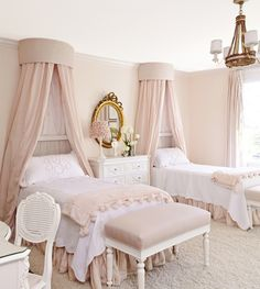 Want to know how to convert your bedroom into a blushing pink bedroom? Then here are some of the best blush pink bedroom decor ideas that you need to check out. Pink Bedroom Design, Pink Bedroom Decor, Pink Bedrooms, Girl Bedroom Designs, Bedroom Ideas, Bedroom Girls, French Bedroom Decor, Princess Bedrooms, Girl Rooms