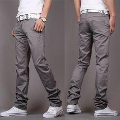 Gender: Men Fit Type: Regular Length: Full Length Closure Type: Zipper Fly Pant Style: Straight Material: Cotton, Polyester size Waist Width(cm) Hip Width(cm) Pant length(cm) 28 72 94 100 29 74 96 101 30 76 98 102 31 80 100 104 32 83 103 106 33 85 106 106 34 89 109 108 35 92 112 108