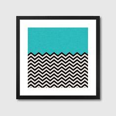 Follow the Sky Framed Print – blue abstract art print