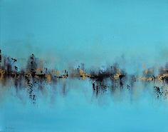 Original Abstract Painting Frozen Night Winter door AbstractArtM