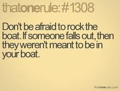 If you don't belong in the boat, you had best put on your water wings.