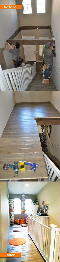 This is SO cool!! Great use of space. Also a great way to get rid of dated two…