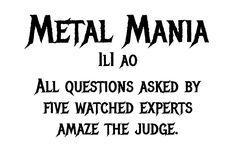 Free Metal Mania by Open Window Spooky Font, Kid Fonts, Metal Albums, Open Window, Serif, Rock Music, Projects For Kids, Heavy Metal, Album Covers
