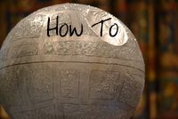 Death Star Pinata! Perfect activity for a star wars theme party.