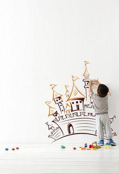 Wall Decal Castle nursery children room decals by svetulka
