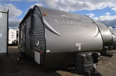 INVITING BUNKHOUSE!!!  2016 Coachmen Catalina 273BH The outside shower will come in handy after those long outdoor activities. Your front diamond plate will protect your paint from stones and road debris. You'll never have to worry about wear because the self adjusting breaks move as the pads wear down. This RV is 29' long and weighs 4,688 lbs. dry. Give our Catalina expert Karin Florida a call 810-834-9851 for pricing and more information. Coachmen Rv, Rv Dealers, Bunkhouse, Toy Hauler, Rvs For Sale, Forest River, Outdoor Activities, Michigan, Florida