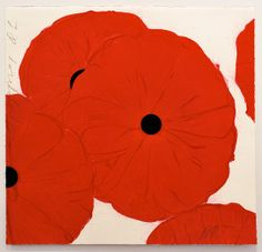 Donald Sultan - Red Poppies, Mar 21, 2012