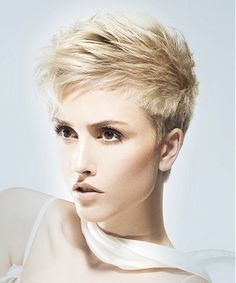 short blonde straight coloured spikey hairstyles for women    WWW.UKHAIRDRESSERS.COM