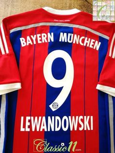 2014 15 Bayern Munich Home Football Shirt Lewandowski  9 (S) 1c47a76d1