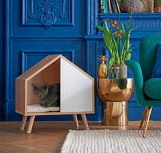Belli Cat House: Blanc, x 38 x cm - Pet house - Chat Huge Cat, Cat Playground, Cat Room, Cat Condo, Pet Furniture, Unique Animals, Animal House, Pet Beds, Dog Houses