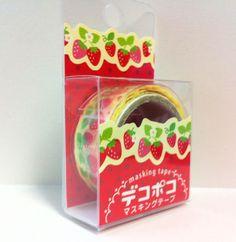 Kawaii Japan Deco Masking Tape:DecoPoco Series II Strawberries