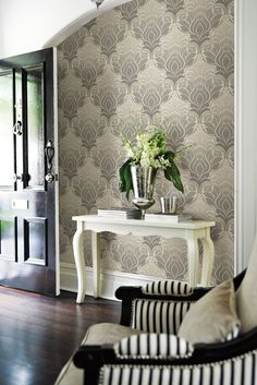 Azmaara by Brewers is an elegant wallpaper collection, perfect for adding sophistication to any home.