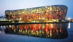 """El """"Nido de Pájaro"""", estadio principal de la Olimpiada de Beijing 2008"""