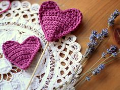 I've had the crochet hooks out and have developed a DIY crochet heart that can be used in a number of ways around the house.  Fill with dried lavender for laven