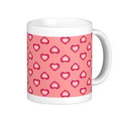 Salmon fade hearts pattern on pink background mugs. Can be customized. #heartwarestore http://www.zazzle.com/salmon_fade_hearts_pattern_mugs-168977516388993385?CMPN=addthis&lang=en&rf=238590879371532555&tc=pinHTMsalmonfadeheartpattern