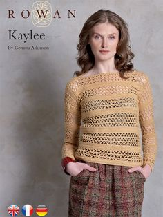 Kaylee Pullover in Rowan Pure Wool 4 Ply. Discover more Patterns by Rowan at LoveKnitting. We stock patterns, yarn, needles and books from all of your favorite brands.