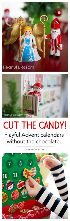There are plenty of sweet treats to go around during the holidays, your kids' Advent calendar doesn't have to be one of them. Check out these adorable and playful Advent calendar ideas for kids. #healthykids #christmasfun #adventcalendars
