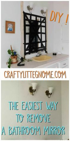 Learn how to easily and safely remove a bathroom wall mirror that has been glued on using these methods with common household supplies.