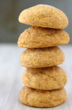 Brown Butter Pumpkin Snickerdoodles - YUM (they need to cook on the longer side... about 12 mins, mine were still a little doughy on the inside when I took them out after 10 mins and let them cool)