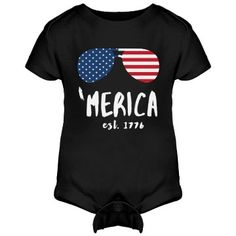 Cool 'Merica Kid | Your little tyke is an American-born, patriot! Celebrate you and your family's love for the great United States of America with this awesome onesie. Your little one will follow in your footsteps by having great patriotism. Happy Fourth of July!