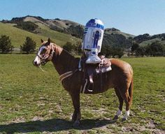 Just R2D2 riding a horse. #starwars