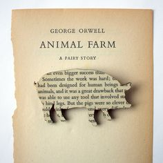 Animal Farm by George Orwell | 17 Literary Brooches That Let You Wear Your Favorite Book