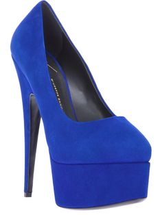 GIUSEPPE ZANOTTI DESIGN platform blue pump. Get it-http://www.topfloor.com/mydesigns4you/1124 #shoes #lookbook #mydesigns4you #fashion #look #beauty #stylehaul #topfloor #topfloorboutique  #outfit #celebrity #style #sexy #hot #trend #boots #heels
