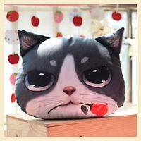 Description : ------------- Cute Cat Face Pillow With Core Adorable design cushion with soft texture! Perfect for gift and home decoration! Filling: PP Cotton. Cute Cats And Dogs, I Love Cats, Mochila Crochet, Cute Cat Face, F2 Savannah Cat, Cat Pillow, Cushions, Pillows, Fluffy Cat