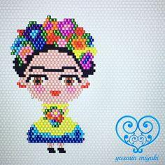 Yeni Frida modelimiz... Designed by #yasminmiyuki . . . #miyuki #handmade #unique #uniquegifts #fridakahlo #fashion #style #design #designer #miyukibeads #like4like #nofilter #flowers #cute #lovely #instagood #instalike