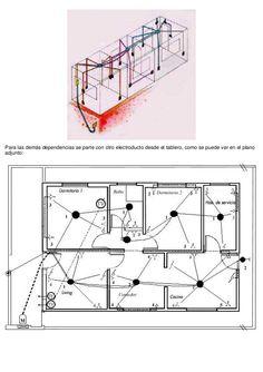 Resultado de imagen para instalacion electrica en planos Floor Plans, Diagram, Circuits, Electrical Plan, Electrical Wiring, Floor Plan Drawing, House Floor Plans