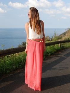 *: Coral Long Skirt