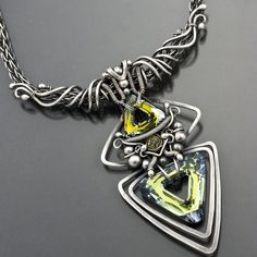 Necklace |  Sarah Thompson from Sarah-n-Dippity Designs.  { If you like wire work, visiting her site is worth it }