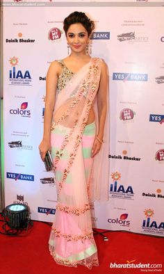 Kiara Advani in saree #saree #sari #blouse #indian #hp #outfit #shaadi #bridal #fashion #style #desi #designer #wedding #gorgeous #beautiful